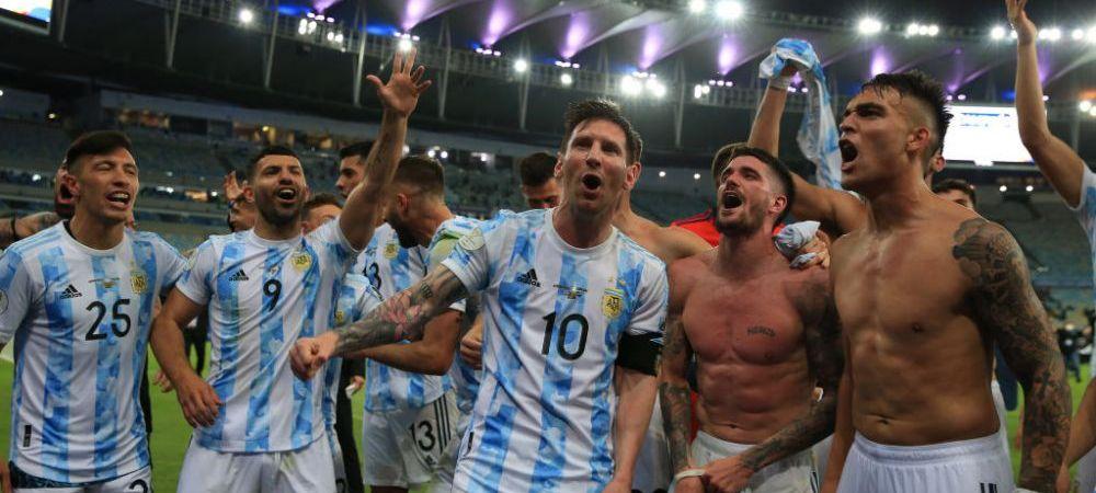 FOTO Messi i-a ingenunchiat pe brazilieni chiar pe Maracana! Cele mai frumoase imagini de la sarbatoarea argentinienilor