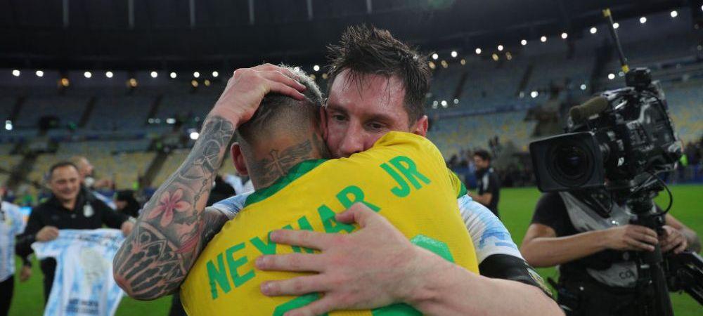 Nu s-au mai putut desparti unul de celalalt! Imagini emotionante cu Messi si Neymar imediat dupa ce s-a incheiat Copa America