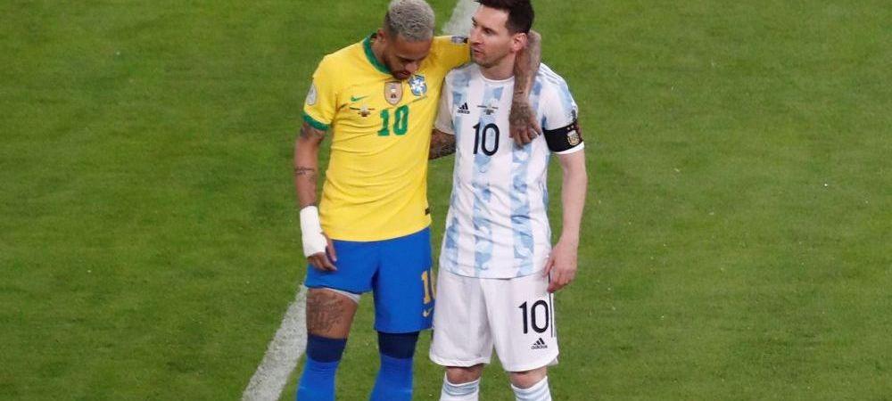Imaginile cu Messi si Neymar Jr dupa finala care fac inconjurul lumii. Este impresionant ce au facut cei doi fotbalisti in vestiar FOTO