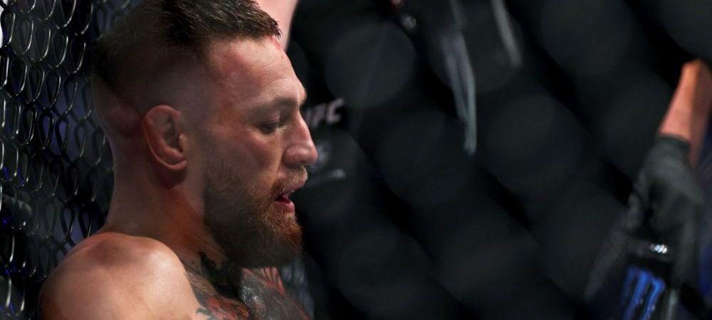 Cosmar pentru Conor McGregor! Irlandezul si-a rupt piciorul in prima runda a luptei cu Poirier