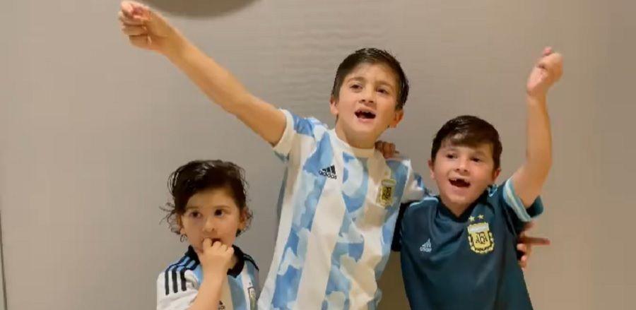 """Copiii lui Messi au facut show dupa ce Argentina a castigat Copa America! Videoclip viral postat de sotia capitanului """"pumelor"""""""