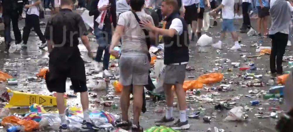 Au strans munti de gunoaie in centrul Londrei! Imagini ireale cu dezastrul facut de englezi inainte de finala