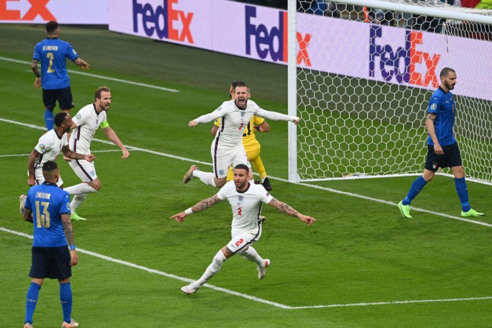Performanta uluitoare izbutita de Luke Shaw! Golul fabulos marcat de englezi intra in istoria Campionatului European