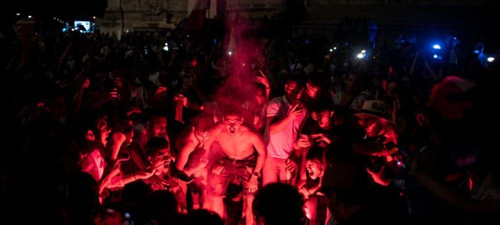 S-a zguduit piata! Imagini spectaculoase cu bucuria suporterilor italieni dupa castigarea Campionatului European
