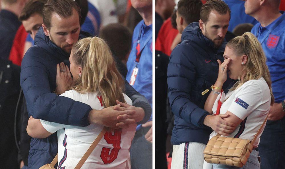Imagini emotionante pe Wembley dupa finala Euro 2020! Harry Kane a urcat in tribune pentru a-si consola sotia