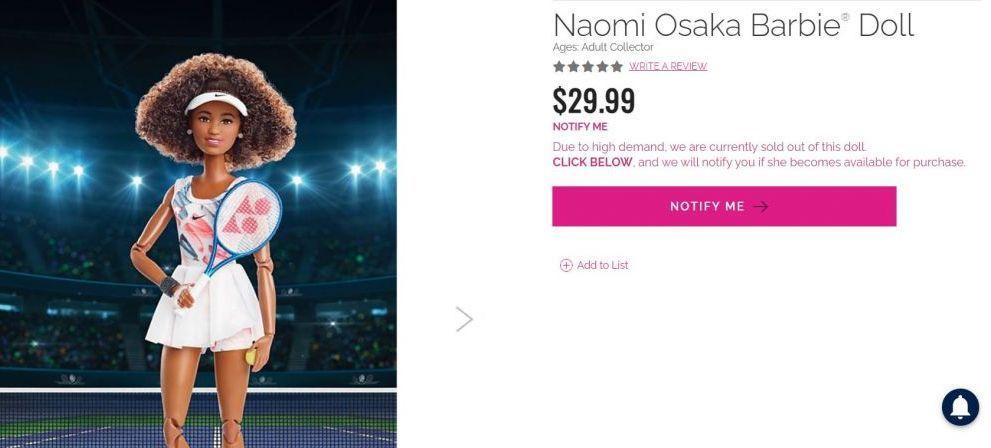 S-a lansat papusa Barbie Naomi Osaka, iar in 24 de ore s-au vandut toate! Cum arata produsul si la ce pret a fost cumparat in masa