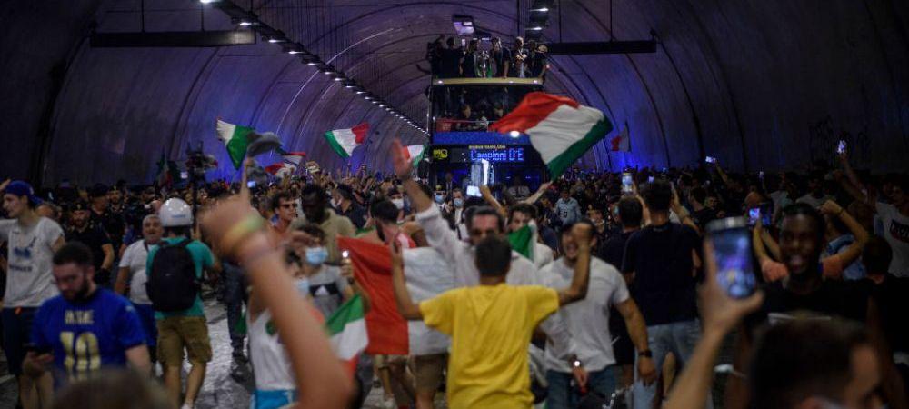 Seara magica in Italia! Imagini superbe de pe strazile din Roma de la sarbatoarea nationalei lui Mancini