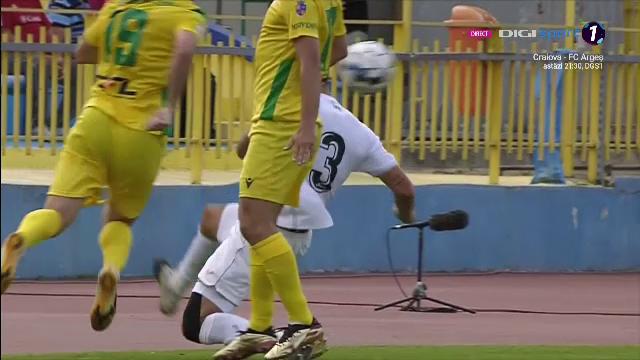 Intrare de K1 a unui fotbalist de la Gaz Metan! Primul cartonas rosu al sezonului, exemplu de