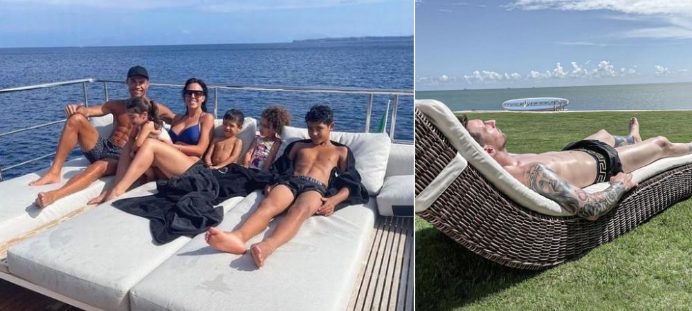 "Imaginile superbe cu Ronaldo si Messi din vacanta! Pana si ""zeii"" se mai odihnesc :)"