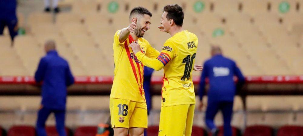 Pique, Busquets, Sergi Roberto si Jordi Alba, nevoiti sa renunte la o parte din bani pentru ca Messi sa poata semna cu Barcelona