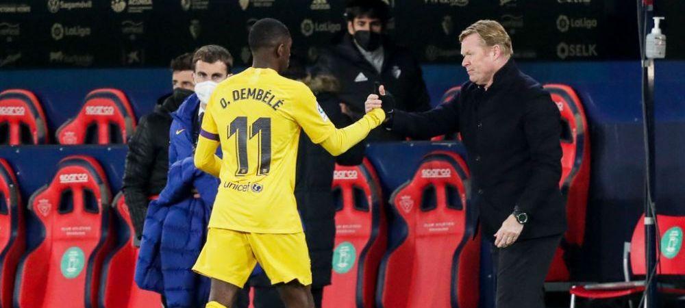 """""""Sunt dezamagit de ce s-a intamplat cu Dembele!"""" Koeman a facut analiza lotului Barcelonei! Ce a spus despre noile transferuri"""
