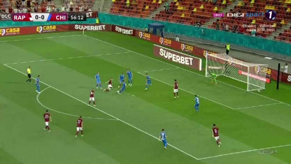 Moment istoric pe Arena Nationala! Rapid marcheaza primul gol in Liga 1 dupa o pauza de sase ani
