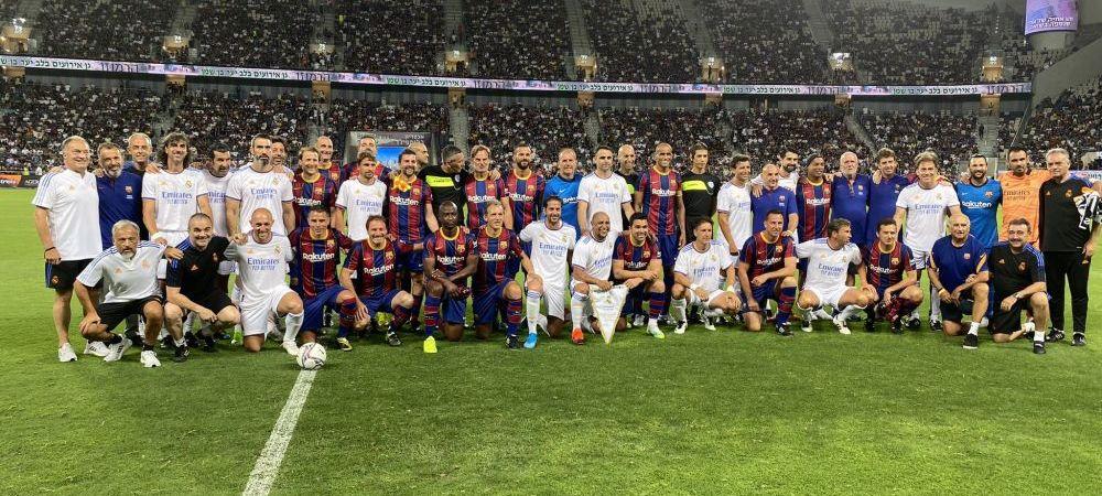 Spectacol total în El Clasico al Legendelor! Real s-a impus, dar Ronaldinho a strălucit