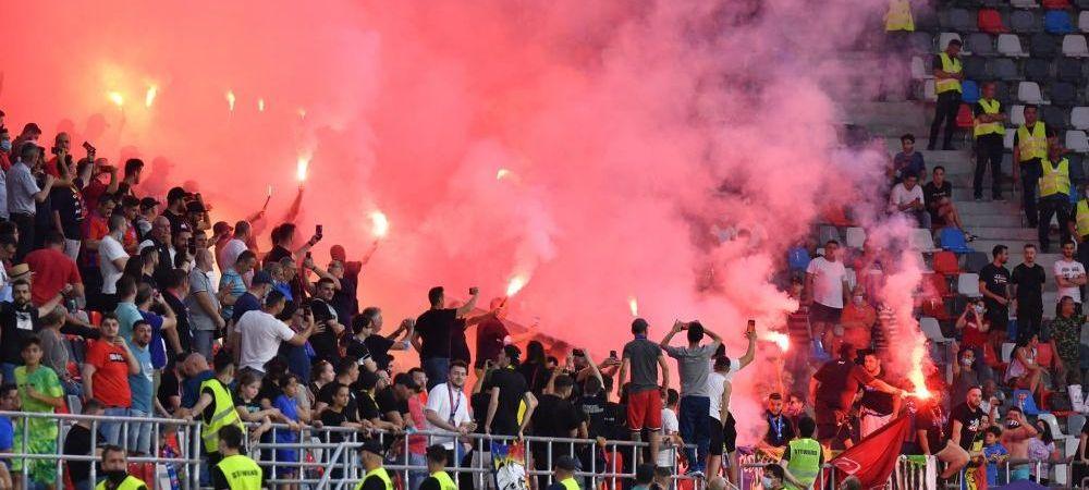 """""""Nu mai aveți viață cu noi!"""" Mesaj dur pus de suporterii CSA în Ghencea după cererea lui Gigi Becali"""