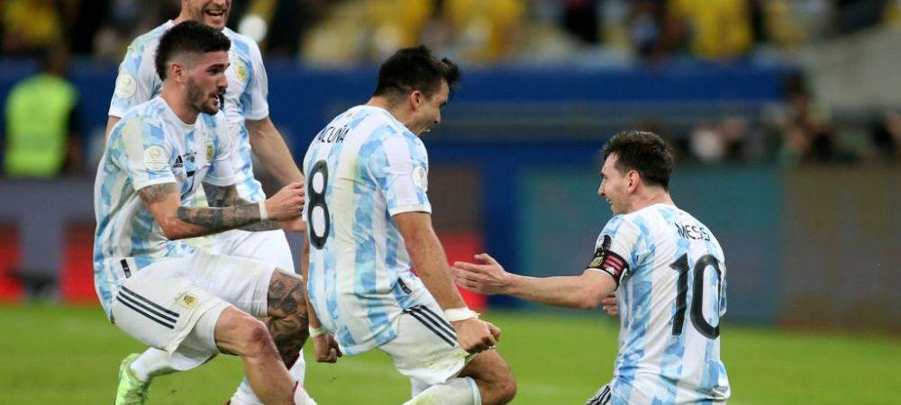 """""""A șters poza cu copiii și a pus una cu el și Messi!"""" Reacție genială a unui coechipier după finala Copa America"""