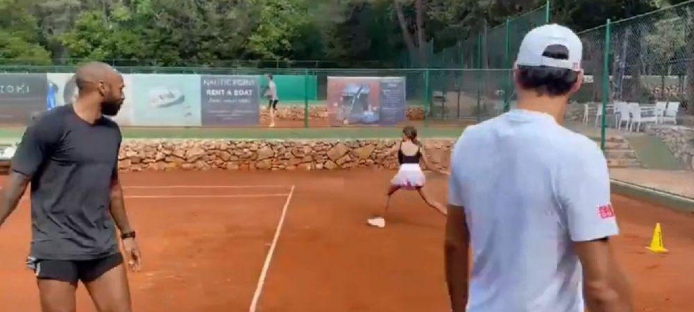 Thierry Henry primește lecții de tenis din partea unicului Roger Federer: cum joacă tenis fostul atacant al Barcelonei