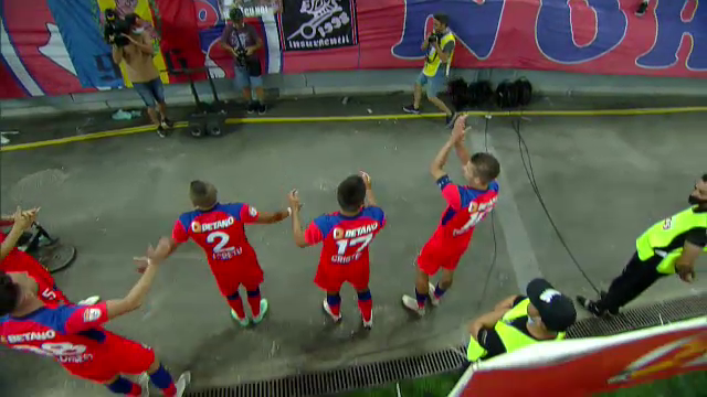 EXCLUSIV | Imagini superbe de pe Arena Națională! Jucătorii FCSB-ului s-au bucurat alături de galerie de victoria cu Shakhter