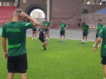 """FCSB a ajuns în Armenia! Imagini de la primul antrenament al """"roș-albaștrilor"""", înaintea duelului cu Karagandy"""