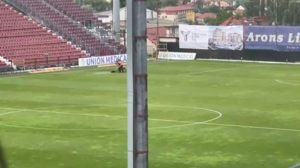 Furtună la Cluj înaintea returului cu Lincoln! Imagini de ultimă oră de la stadion