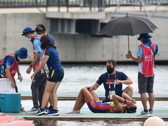 Denisa Tîlvescu, epuizată de efort după finala de la 8+1. Românca s-a prăbușit pe ponton la sosire FOTO