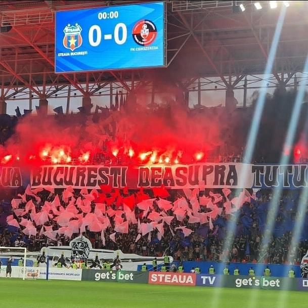 CSA Steaua, părăsită de suporteri! Imaginile unui debut nefericit pentru bucureșteni