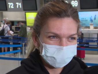 Simona Halep a rupt tăcerea, la plecarea spre Montreal | VIDEO
