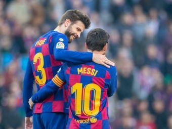 """""""Știu că te vei întoarce!"""" Mesajul emoționant al lui Pique pentru Messi! Ce au postat jucătorii Barcei"""