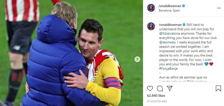 """""""Încă e greu de înțeles!"""" Koeman, mesaj pentru Messi după anunțul plecării de la Barcelona"""