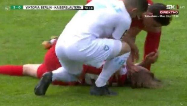 Momente șocante în Germania! Fratele lui Gotze s-a prăbușit pe teren și a avut nevoie de ajutor imediat