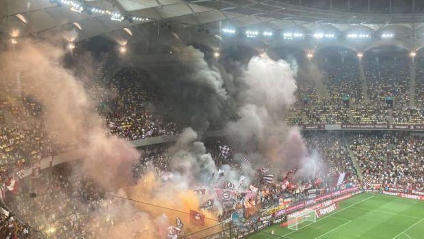 Fanii rapidiști, atmosfera ca în America de Sud! Au întrerupt meciul în startul reprizei secunde