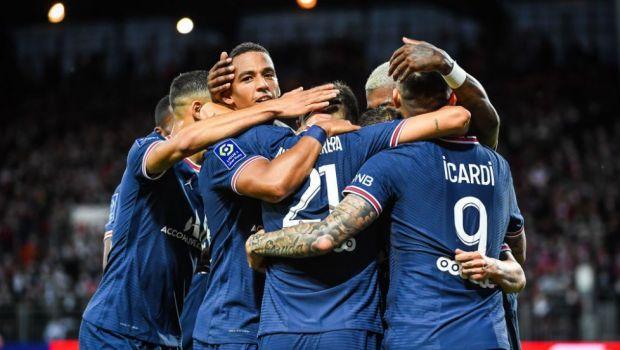 Brest - PSG 2-4: Fără Messi și Neymar, parizienii defilează în Ligue 1. Di Maria și Mbappe, printre marcatori