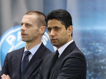 """""""Trebuie să fim uniți împotriva fraudei numită SuperLiga!"""" Mesaj dur al lui Ceferin și atac al lui Al Khelaifi"""