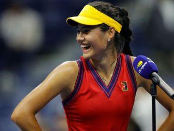 """""""Sunt în stare de șoc, dar să știți că nu există presiune pe mine!"""" Prima reacție a Emmei Răducanu după calificarea în finala US Open"""
