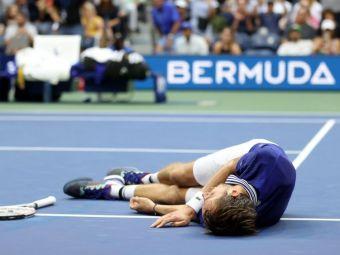 Nimeni nu a mai făcut asta vreodată pe un teren de tenis! Mare iubitor de FIFA, Daniil Medvedev a sărbătorit victoria la US Open într-un mod caraghios