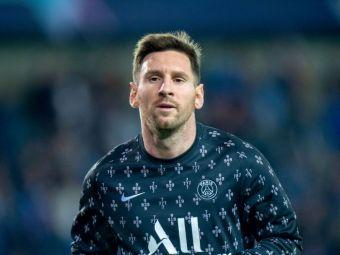 Imaginea serii vine din Liga Campionilor! Un fan a venit cu un mesaj pentru Messi și a devenit viral pe internet