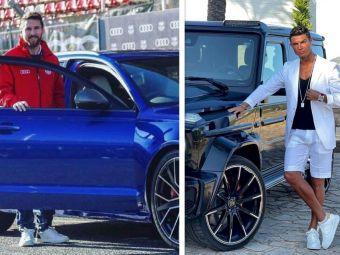 Messi și Ronaldo se bat și în mașini de lux! Dar cei doi sunt mici copii pe lângă Ion Țiriac