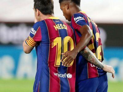 Leo Messi canta Ansu