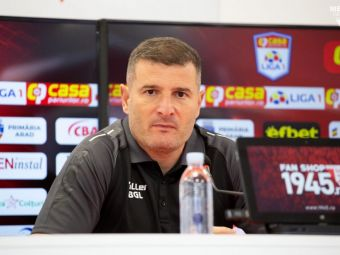"""Reacția lui Laszlo Balint după înfrângerea cu CFR Cluj: """"Au respectat planul tactic!"""""""