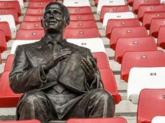Gest superb la Arad! Francisc Neuman are o statuie în tribunele arenei