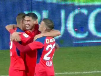 FCSB - CS Mioveni 3-0 | Fără Iordănescu pe bancă, FCSB obține a cincea victorie consecutivă și urcă pe locul doi