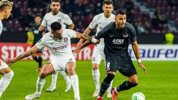 CFR Cluj - AZ Alkmaar, 0-1   CFR, o nouă înfrângere în Conference League, însă continuă să spere