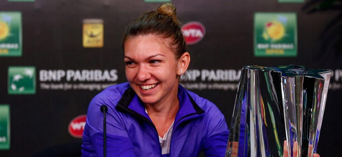 Simona Halep vrea titlul la Indian Wells